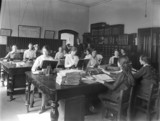 Women workers, administration office, Horwich works, Lancashire, May 1917.