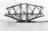 Construction of the Forth Bridge, about 1887
