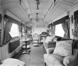Day saloon in the royal train, c 1907.