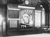 Notice board, St Pancras Station, London, Second World War, 1939.