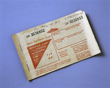 Motor fuel ration book, Serial No LH 553685, 1973.