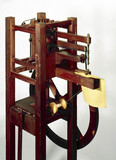 Thimonnier's chain-stitch sewing machine, 1830.