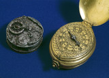 Early German watch and watch movement, 16th century.