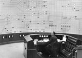Chief Control Operator in the National Grid Control Room, UK, 22 March 1964.