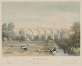 Nidd Viaduct, Leeds & Thirsk Railway, near Knaresborough, c 1850.