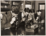 Students in a botany class, c 1931.