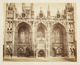 Peterborough Cathedral, c 1860.