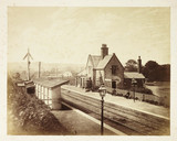 'Lightcliffe Railway Station', c 1855.