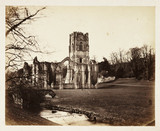 Ruined abbey, c 1855