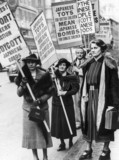 Mrs. Attlee in procession to boycott Japanese goods. February 9 1938.