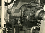 Metropolitan-Vickers G6 marine engine during testing,  c late 1940s.