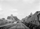 Bicester station, c 1950s.