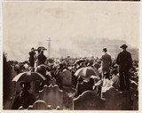 Crowd by the Caedmon Cross, Whitby, 1898.