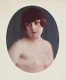 Portrait of girl, semi-nude, c 1920.