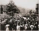 Crowds in Downing Street on Declaration of War, August 1914.