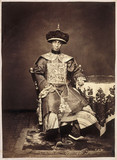 Asian man in traditional costume, mid-late 19th century.