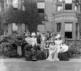 Tom G Clayton and S W Johnson with relatives, 1899.