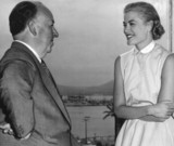 Alfred Hitchcock and Grace Kelly, Cannes, June 1954.