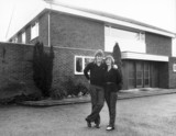 Glenn Hoddle and his wife Anne outside their house, January 1982.