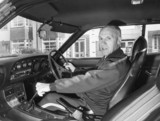 Bill Shankly in his car, October 1975.