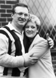 Dennis Taylor and wife Pat, April 1985.