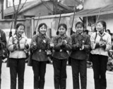 Chinese girls with rifles, April 1973.