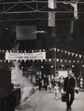 Fenchurch street Station welcomes Olympic visitors, 20 July 1948.