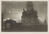 'The Gladstone Memorial, London - Night', 1925.