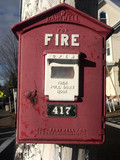 Fire alert box, Ramsey, New Jersey, USA, 2004.