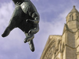 Emperor Constantine statue and the Minster, York, 2004.