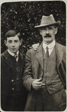 Portrait of William and Claude Friese-Greene, c 1908.