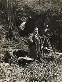 Claude Friese-Greene with Vinten cine camera, c 1925.