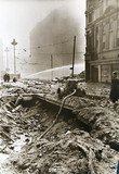 Street damaged in the Blitz, Liverpool, 1940s.