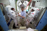 Training for Expedition 12 to the International Space Station, 2005.