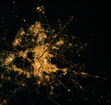 Seoul, South Korea, from the International Space Station, c 2005.