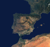 The Iberian peninsula from space, c 2000-2002.