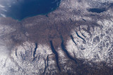 Finger Lakes from space, December 2004.