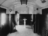 Interior of an LMS brake van, 20 November 1939.