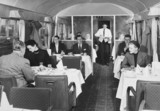 British Rail standard coach, first class restaurant car 1951.
