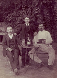 Three absinthe drinkers, c 1910.