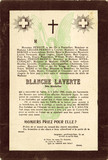 Blanche Laverte mock mourning card, c 1914.