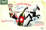 'L'Entente Cordiale' - Swiss absinthe prohibition, 1908.