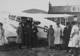 Arrival of the first Railway Air Services flight from Plymouth, c 1934.