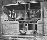Signal box at Victoria, late 19th century.