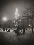 Christmas tree, Welwyn Garden City, Hertfordshire, 23 December 1938.