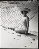 Nude study: woman and fishing net, 1960s