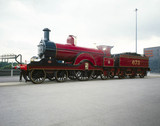 MR 4-2-2 steam locomotive no 673, 1897. Thi