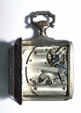 Self-winding watch, c 1880.