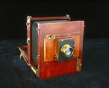 Gandolfi square bellows whole-plate tailboard camera, 1930.