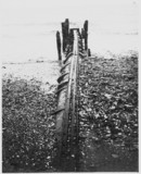 Atmospheric railway pipe in use as a drain, Paignton, Devon, c 1912.